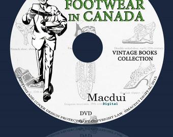 Schoeisel in Canada-Vintage Magazine E-books 12 Volumes PDF op 1 DVD, schoenen, voeten, laarzen, Canadese Schoenmakers