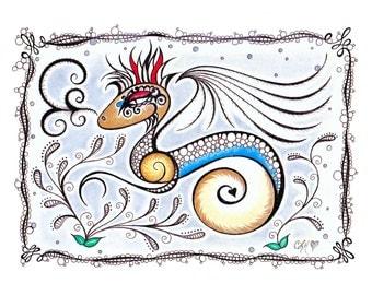 Dragon Art / Fun Art / Whimsical Dragon