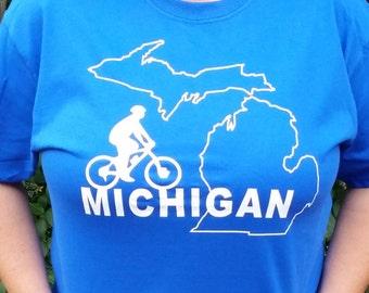 Bike Michigan T shirt