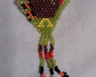 Holiday Beaded Turkey Pin