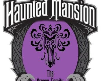 Haunted Mansion Wallpaper Plaque Magnet