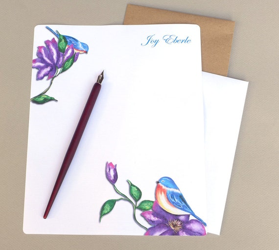 Personalized Papers Executive Stationery: Monogrammed Letter Writing Set Personalized Stationary Set