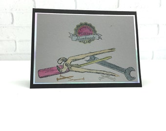 Handyman's Birthday Card ~ Birthday Cards for Him ~ Tools Birthday Card ~ Greeting Cards for Him ~ Father's Day Cards ~ Get Well Soon Cards