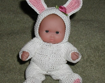 Pink Bunny Itty Bitty Baby plus Berenguer Lots to Love Baby Doll