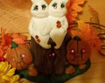 Ghosts In The Pumpkin Patch Music Box with Eyes that Light Up!
