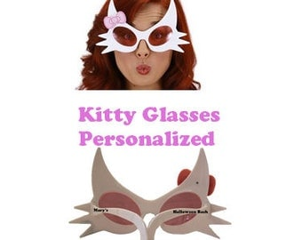 Kitty Glasses, Personalized, For Cat or Kitty Costume, Halloween Glasses,