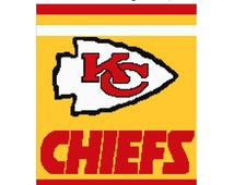 Crochet Pattern Kansas City Chiefs Afghan : Unique graphghan related items Etsy