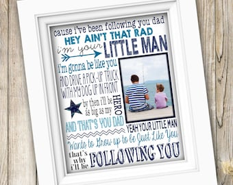 Printable Song Lyrics Art ~ Father's Day Gift ~ Birthday Gift for Dad ~ Custom Song Lyrics Print ~ Gift for Dad From Son For Him DIGITAL