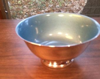Reed & Barton Enamel Painted Silver Plate Bowl