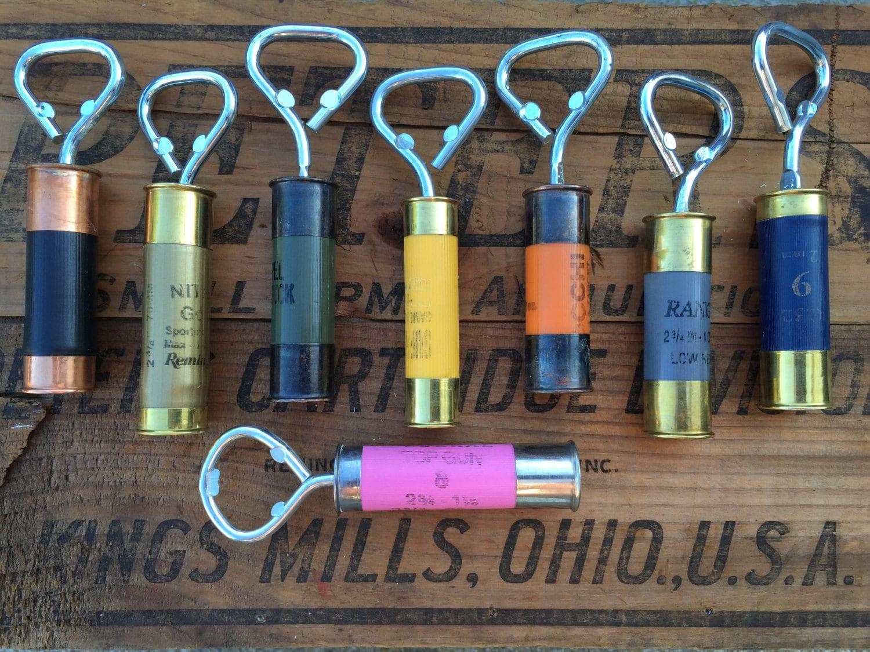 double capped shotgun shell bottle openers. Black Bedroom Furniture Sets. Home Design Ideas