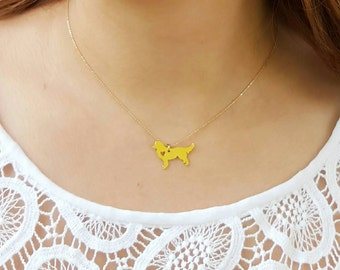 GOLDEN RETRIEVER NECKLACE!! Necklace, Jewelry, dog lovers, Animal lovers, Gold Necklace, Pawies
