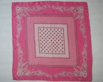 Silk SCARF Fabiani Roma romantic pink slide scarf