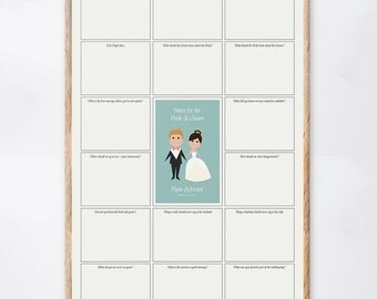 Wedding Guest Book Alternative with Questions, Advice Guest Book, Wedding Prompts, Guest Book Ideas