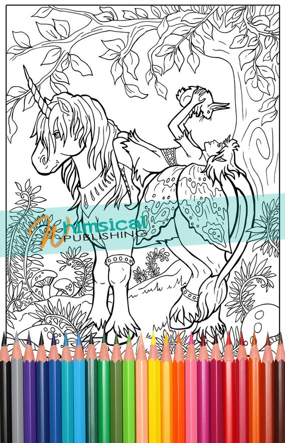 Fairy and Unicorn Coloring Pages princess by ...