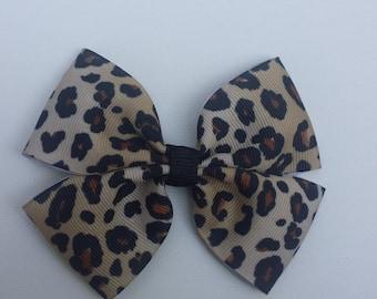 Leopard Hairbow-Tan