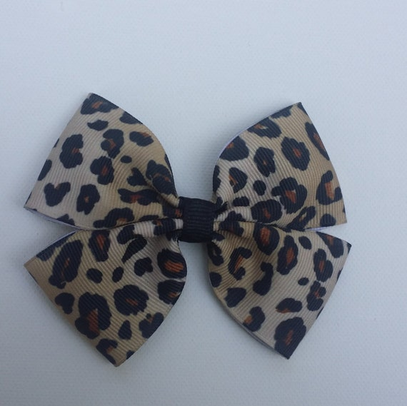 Leopard Hairbow-Tan