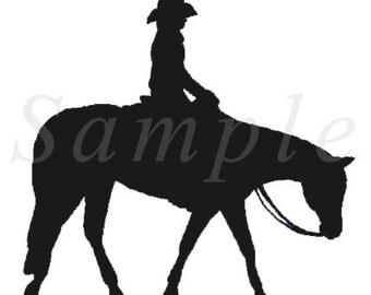 Western Pleasure Quarter Horse Silhouette