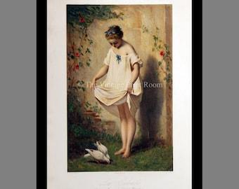 Doves Fine Art Giclée Print - Children