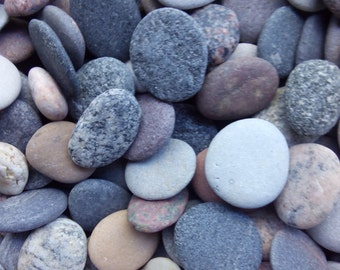 Round Sea Stones -Bulk 200 Pieces Small-Baltic Beach Stones -Beach Pebbles