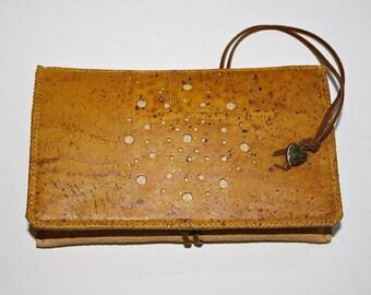 "Tobacco bag / Portemonnaie ""Pusteblume"" Cork/leather"