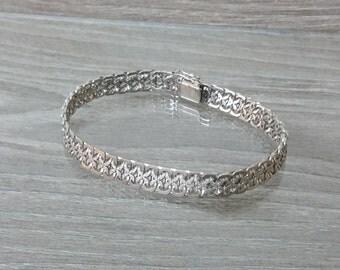835 silver bracelet L20cm wrist 70s SA181