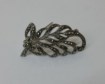 Filigree brooch 835 branch & Markasiten SB111