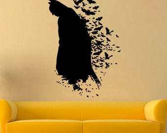 Batman Wall Decal Dark Knight Vinyl Sticker Comics Wall Decals Wall Vinyl  Decor /1yip/