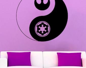 Star Wars Logo Wall Decal Star Wars Symbol Vinyl Sticker Wall Vinyl Decals Wall Vinyl Decor /1luj/
