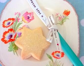 Spread Love Knife -  Handstamped Vintage Butter Knife, Gift, Foodie Gift,