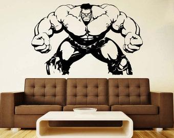hulk wall vinyl decal hulk wall vinyl sticker superhero wall decals nursery decor home decor