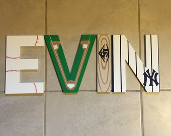 Baseball personalized name letters