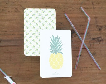 Lot of 2 postcards pineapple/weft - envelopes