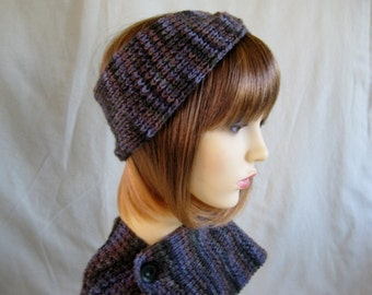 Headband and neckwarmer in chunky knit