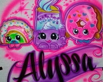 Personalized Custom Airbrushed Shopkins Inspired T-Shirt , The Perfect Shirt for You or Your Child