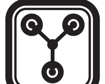 Flux Capacitor vinyl decal - Available in all colors/sizes!!!