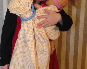 Mini Sling--Ring Sling Doll Carrier, size 2-5 years