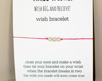 Three Wishes Wish Bracelet - Silver