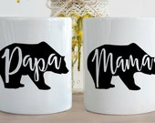 140z Momma Bear or Papa Bear Mug, Bear Mug