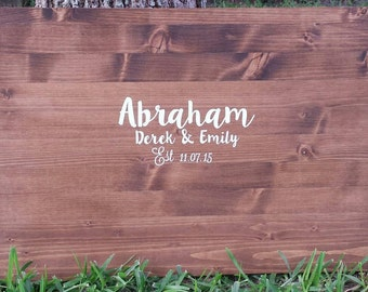 Rustic Wedding Guest Book Sign