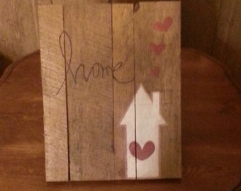 Home Wood Pallet Sign