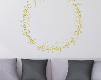 Lord of the Rings - Inscription on the One Ring Wall Decal