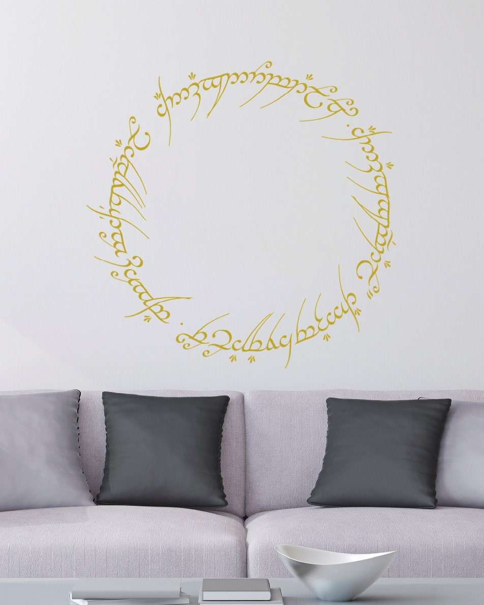 Lord of the rings inscription on the one ring wall decal details lord of the rings inscription on the one ring wall decal amipublicfo Choice Image