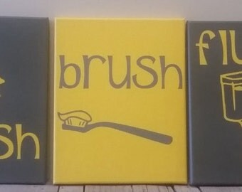 Brush Bathroom Decor