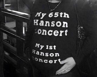1st Hanson Concert shirt