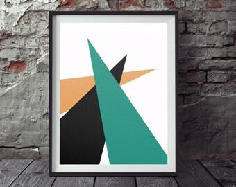 Minimalist geometric triangle print