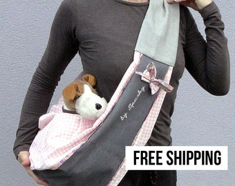 Small dog sling carrier SAN SEBASTIAN ROSE