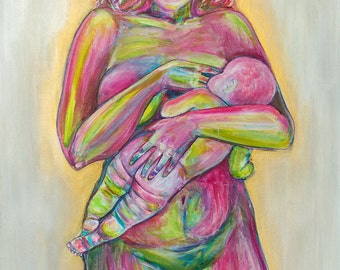 Breastfeeding mother   Breastfeeding artwork print