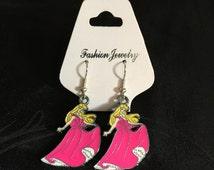 Silver Plated Disney Princess Sleeping Beauty Aurora Earrings