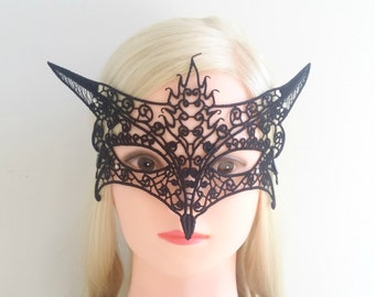 Lace Mask, Black Lace Mask, Mask, Ariana Grande, Masquerade Mask, Party Mask, Venetian Mask, Sexy Mask, wedding accessory, costume play