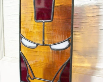 """Flat Faces Series 2 """"Man of Iron"""" Stained Glass Suncatcher"""